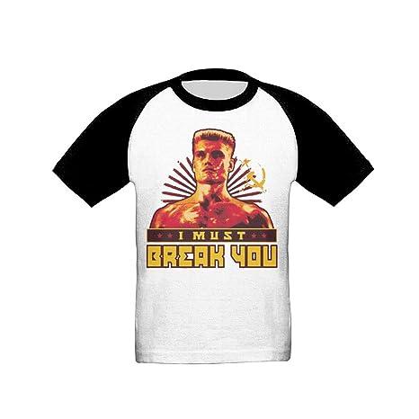 Kids Toddler I Must Break You Ivan Drago Raglan Baseball T