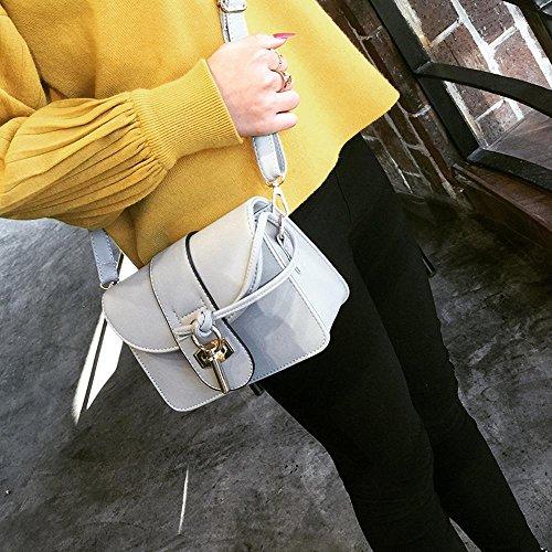 Aoligei Corée version style unique sac à bandoulière tendance fashion PU serrure retro sac sac C