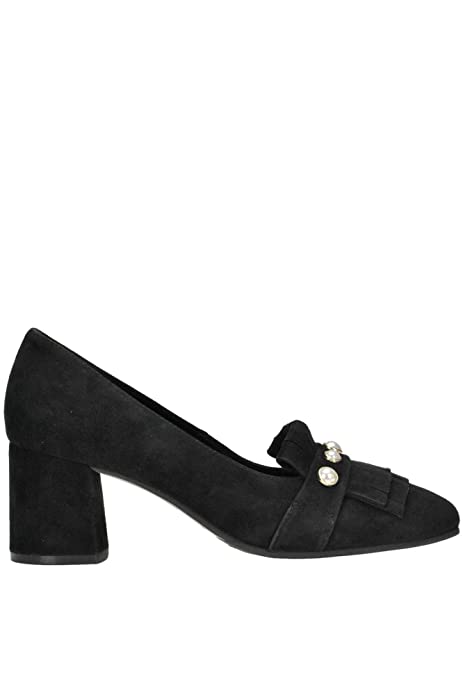 ELVIO ZANON Decolleté Donna MCGLCAT000004052I Camoscio Nero  Amazon.it  Scarpe  e borse 524224ebff2