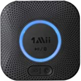 1Mii B06 Plus Bluetooth Receiver, HIFI Wireless Audio Adapter, Bluetooth 4.2 Receiver with 3D Surround aptX Low Latency for H