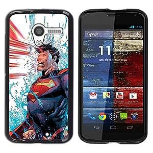 iKiki Tech / Estuche rígido - Blue Red Man Cartoon Power - Motorola Moto X 1 1st GEN I XT1058 XT1053 XT1052 XT1056 XT1060 XT1055