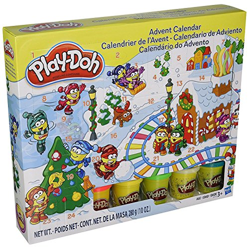 : Play-Doh - B21999 - Modeling Compound Toy - Xmas Advent Calendar - Includes 5 Colour Tubs