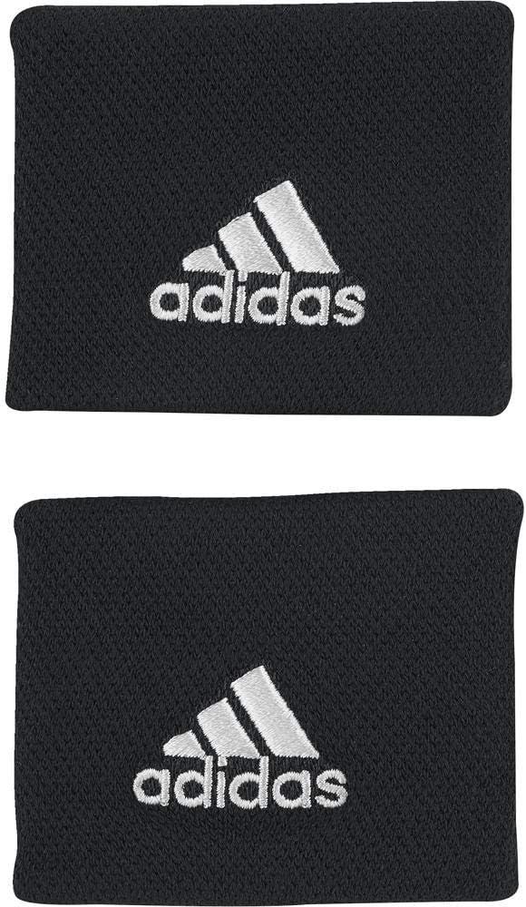 adidas WB S Tennis Wristband, Unisex Adulto, Black/White, OSFM ...