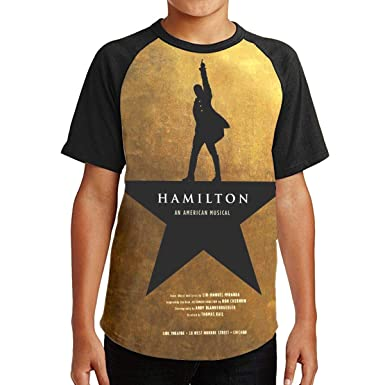 ea4ef7c4442 MyLoire Alexander Lin Manuel-Miranda Hamilton Boys Girls Raglan Short  Sleeve Shirt Baseball Top Graphic