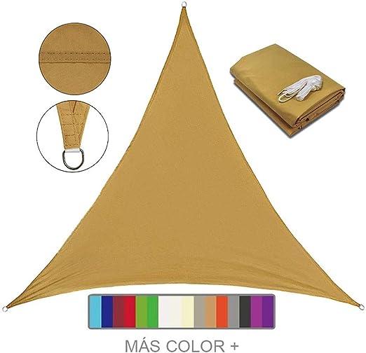 Lanbent Toldo Vela de Sombra Impermeable Triangular, Toldo Protección Rayos UV 95%, Cochera y Pérgola para Exterior, Patio, Jardín, Terraza y Camping: Amazon.es: Jardín