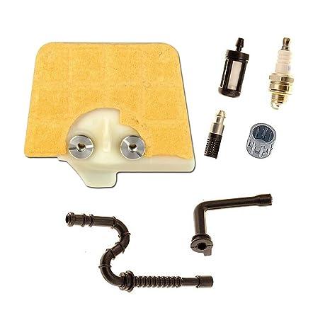 Aisen aire combustible filtro de aceite con línea de combustible para bujías para STIHL 036 MS340