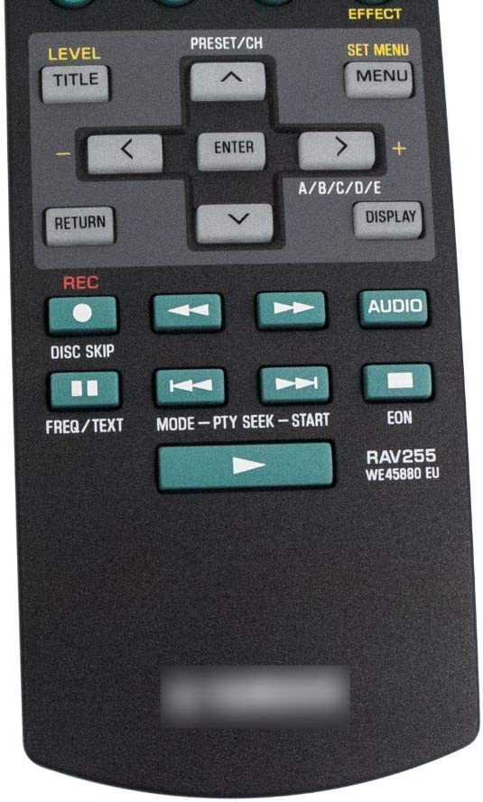 Calvas REMOTE CONTROL FOR Yamaha RAV255 WE45880 EU Receiver For RX-V557