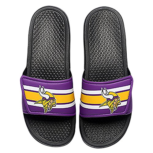 Foco Nfl Minnesota Vikings Mens Legacy Velcro Sport Slide  Team Color  X Large