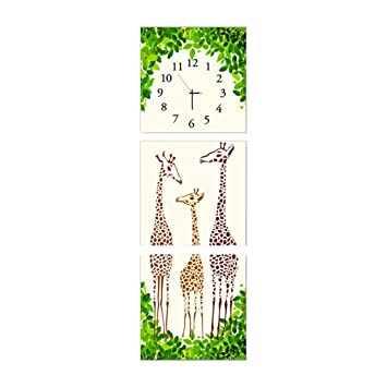 Horloge Murale Tableau Triple Vertical Sans Cadre Horloge Couloir