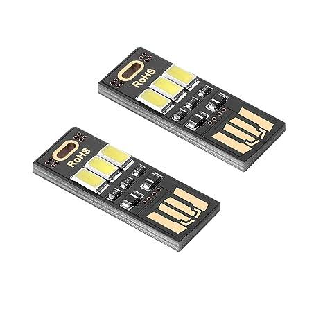Sienoc 2 x potentissima luz LED USB, Mini LED Night USB 3 lámpara LED,