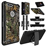 zte zmax swivel clip - ZTE Blade Z Max Case, ZTE ZMax Pro 2 Case, Elegant Choise Heavy Duty Full Body Shockproof [Swivel Belt Clip] Holster with Kickstand Armor Rugged Defender Case Cover for ZTE Sequoia Z982 (Camouflage)