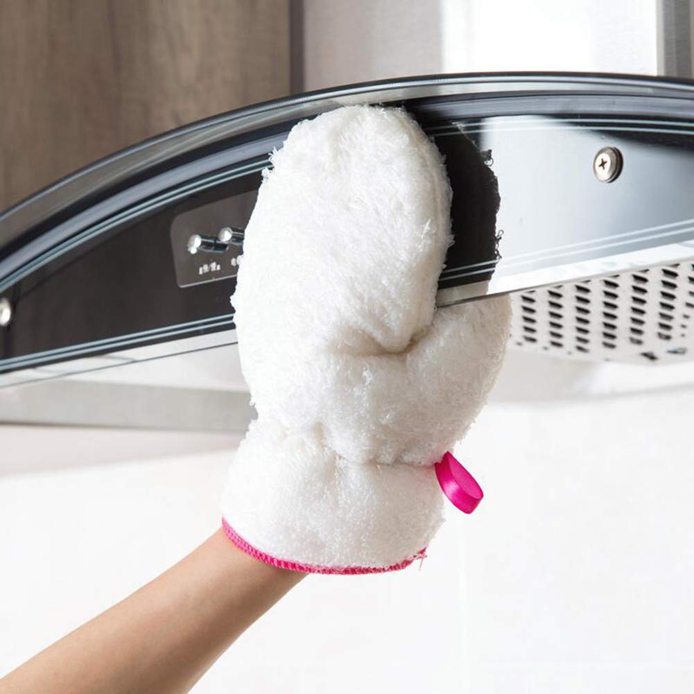 ZX101 1Pc Dish Wash Scrubber Oilproof Waterproof Household Chores Cleaning Glove Tool - White