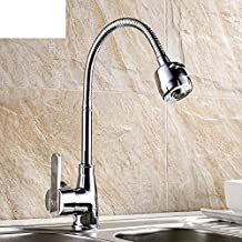 Kitchen faucet/Hot and cold vegetables basin sink faucet laundry tub/Rotatable lever basin mixer-A