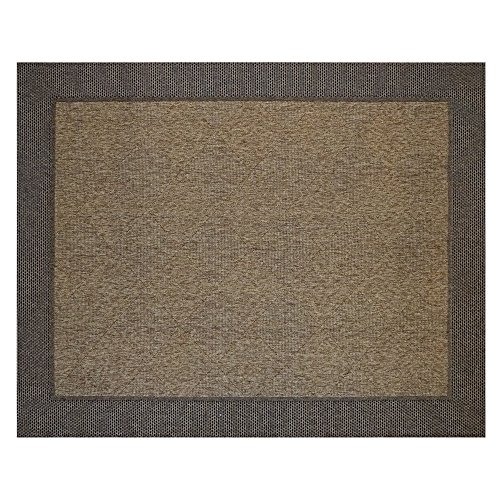 Gertmenian 21363 Outdoor Rug Furman Platinum Patio Carpet, 8' x 10' Large, Raven Diamond Brown