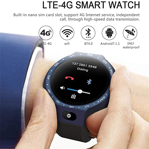 ACZZ Smart Watch Phone 4G Lte Dual Systems, 1Gb + 16Gb ...
