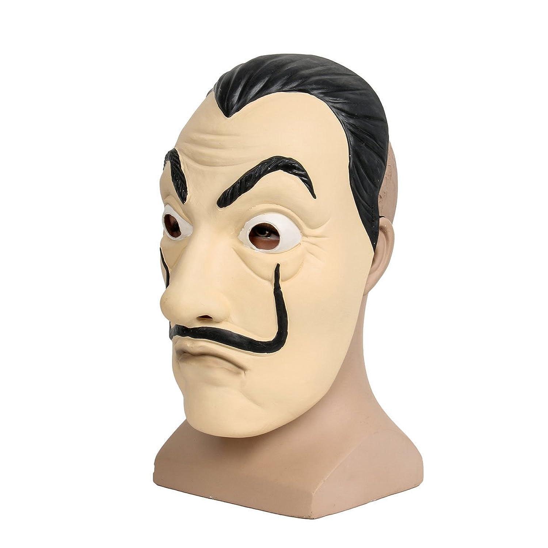 Amazon.com: Molagogo Casa De Papel Face Mask Salvador Dali Cosplay Movie Realistic Halloween Party Latex Masks Mascara de Dali: Clothing