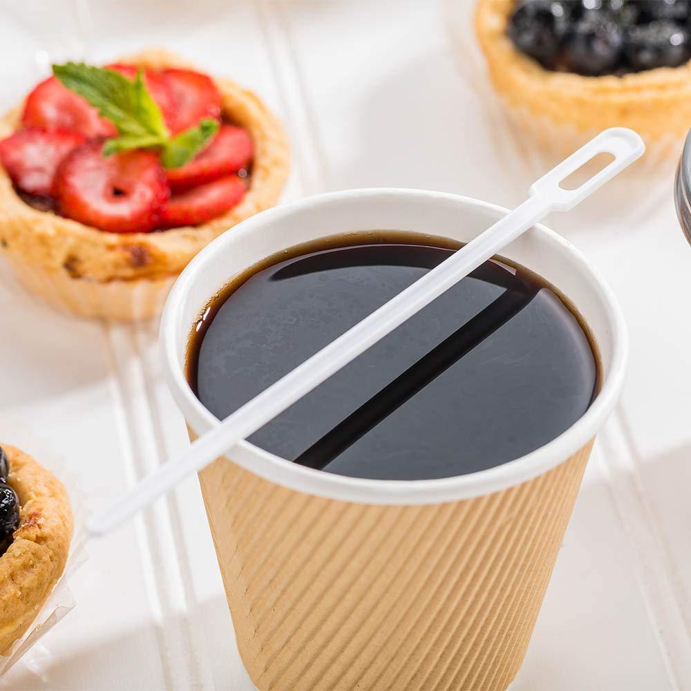 Restaurantware RWP0460W White Plastic Keyhole Coffee Stirrer 6 1/4'' 1000 count box 6.3''L x 0.4''W x 0.1''H by Restaurantware (Image #3)