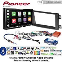 Volunteer Audio Pioneer AVH-2440NEX Double Din Radio Install Kit with Apple CarPlay, Android Auto and Bluetooth Fits 2014-2016 Mazda CX-5