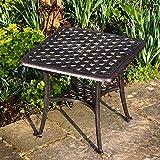 Lazy Susan Furniture - Sandra Aluminium Side Table Antique Bronze