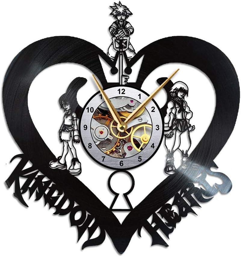 AroundTheTime - Kingdom Hearts Clock - Keyblades Gift Decor - Vinyl Record Wall Clock