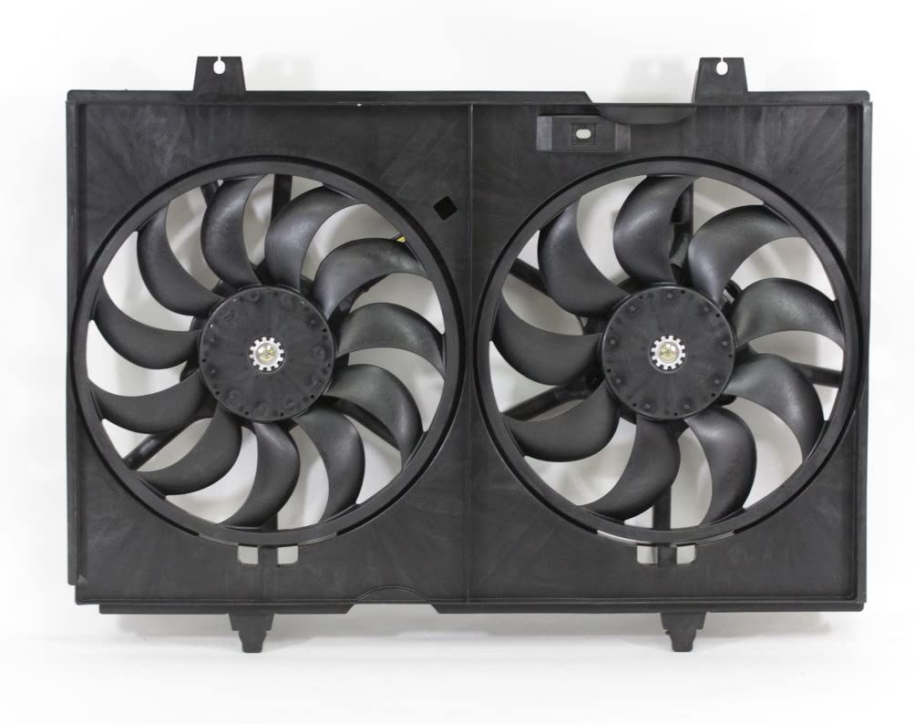 Fans & Parts Dual Radiator and Condenser Fan Assembly Cooling ...
