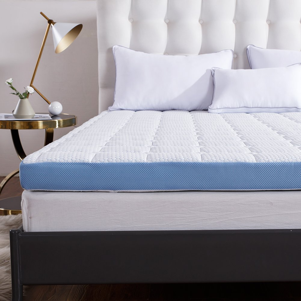 Cr 3-inch Foam Mattress Topper with Ultra Soft Cover, Twin Size, 37.5'' x 73''