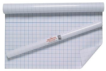 Tiger - Rollo de plástico con reverso adhesivo para forrar libros, 0,5 x 3 m, transparente: Amazon.es: Oficina y papelería