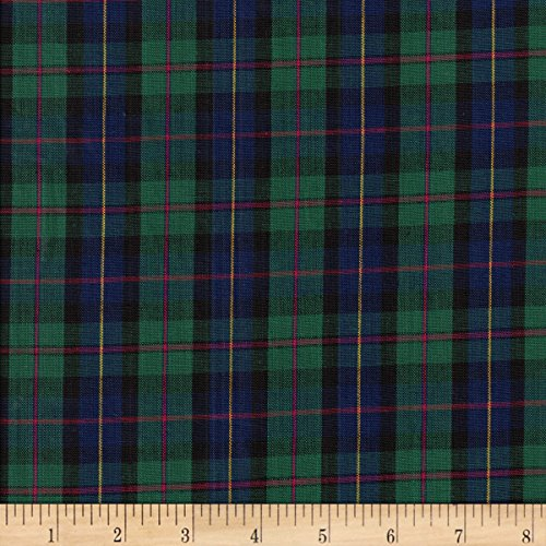 Textile Creations Classic Yarn-Dyed Tartan Plaid Blue/Green Fabric by The ()