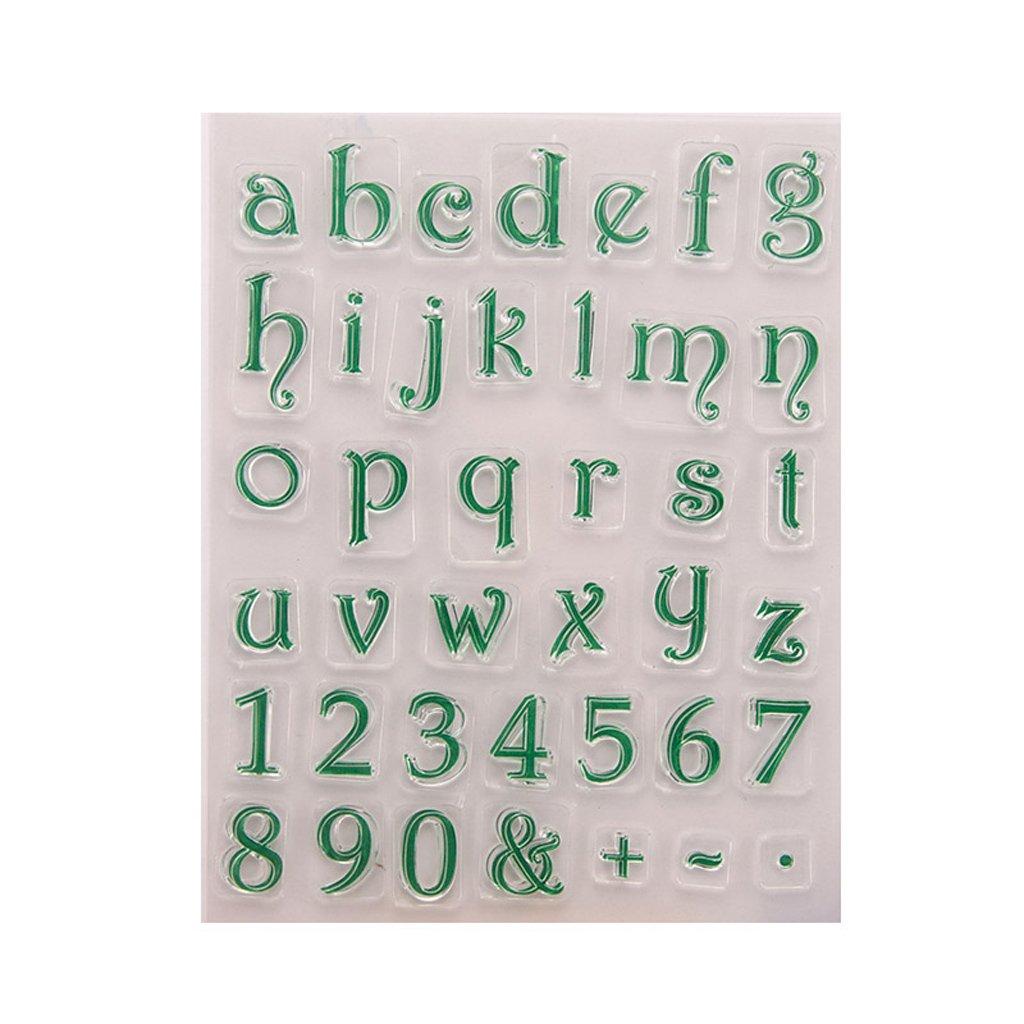Ranuw Timbro trasparente (numero lettera) fai da te fai da te in silicone Clear Stamps per Album Foto Album da collezione goffratura Scrapbooking