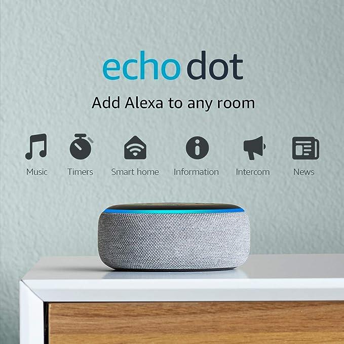 Amazon.com: Echo Dot (3rd Gen) - Smart speaker with Alexa - Heather Gray: Amazon Devices