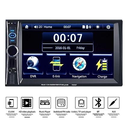 Coche reproductor de vídeo 7 HD 2 Din coche radio estéreo GPS ...
