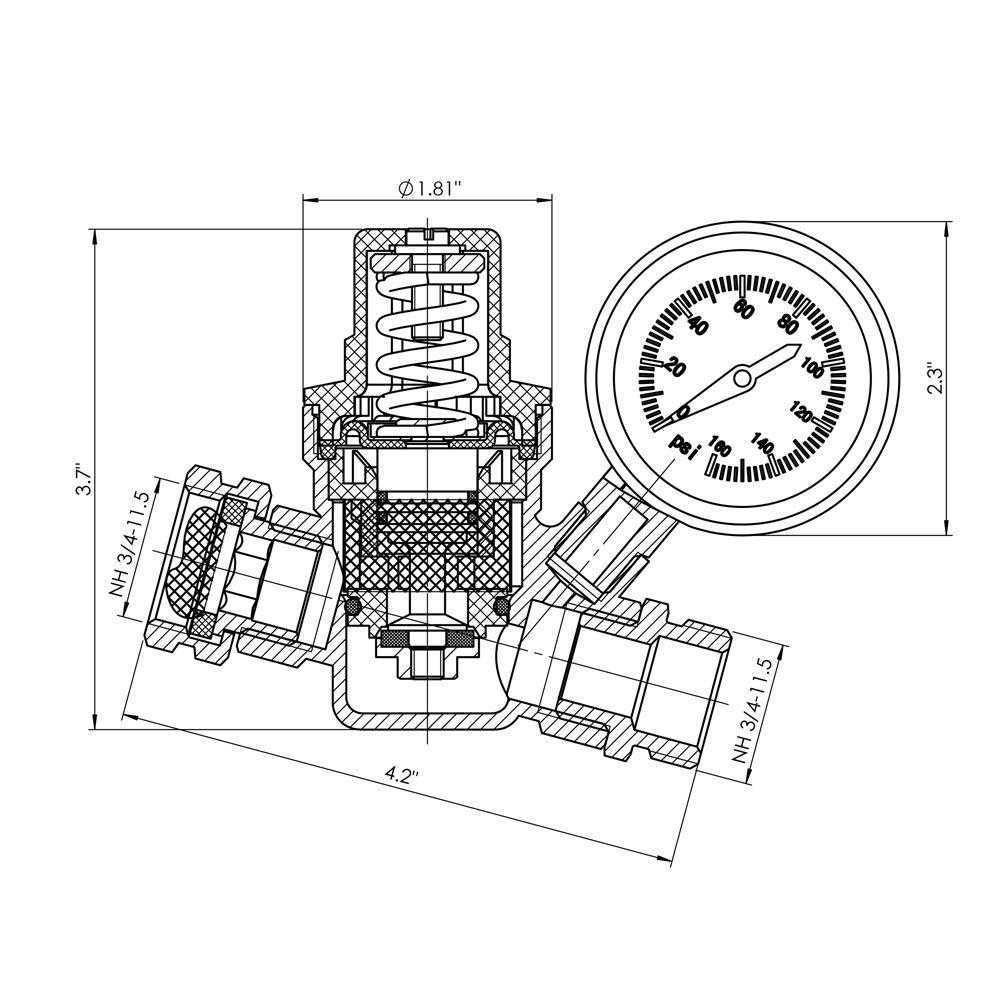 1//2 x 152 OC Rubber D/&D PowerDrive A150 V Belt
