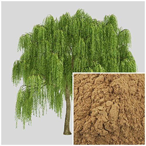 White Willow Bark, 8oz, dried herb, soap making supplies, also for herbal extracts, tinctures, teas, salves, creams, lotions or lip balms. ()