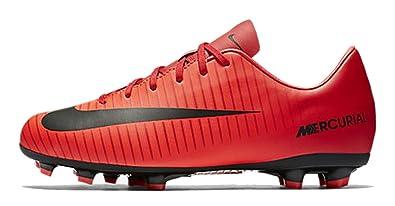 60f88ebd3d42 Nike Junior Mercurial Victory VI FG Soccer Cleats (University Red Black)  (3.5