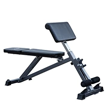 Akonza All In One Bench Ab, Hyperextension Preacher Adjustable Curl Weight  Bench Fitness