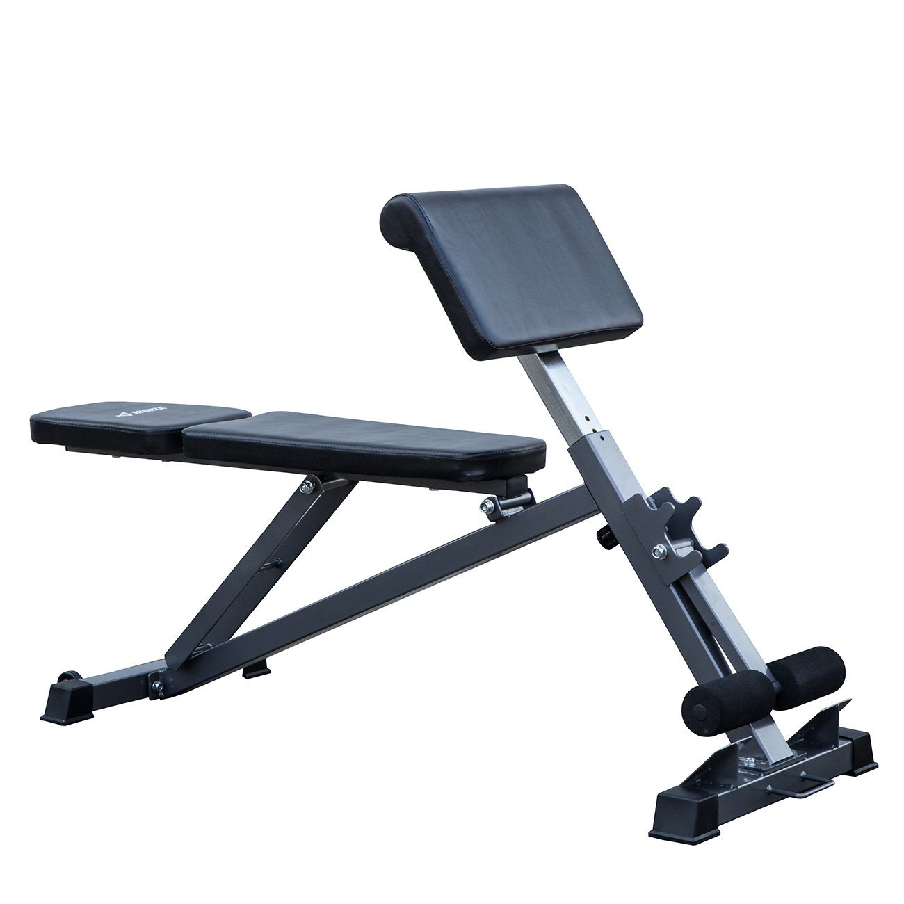 Akonza All-in-One Bench Ab, Hyperextension Preacher Adjustable Curl Weight Bench Fitness by Akonza