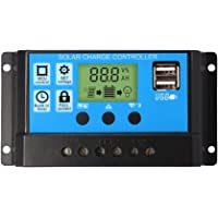 nuzamas regulador de 12V/24V Panel Solar controlador de carga 20A PWM Pantalla LCD USB puerto