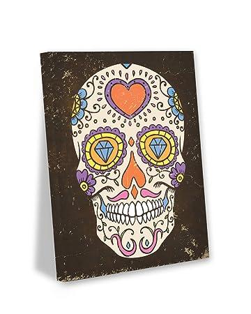 Amazon De Ungewohnliche Styles Skull Art Wand Dia De Los Muertos