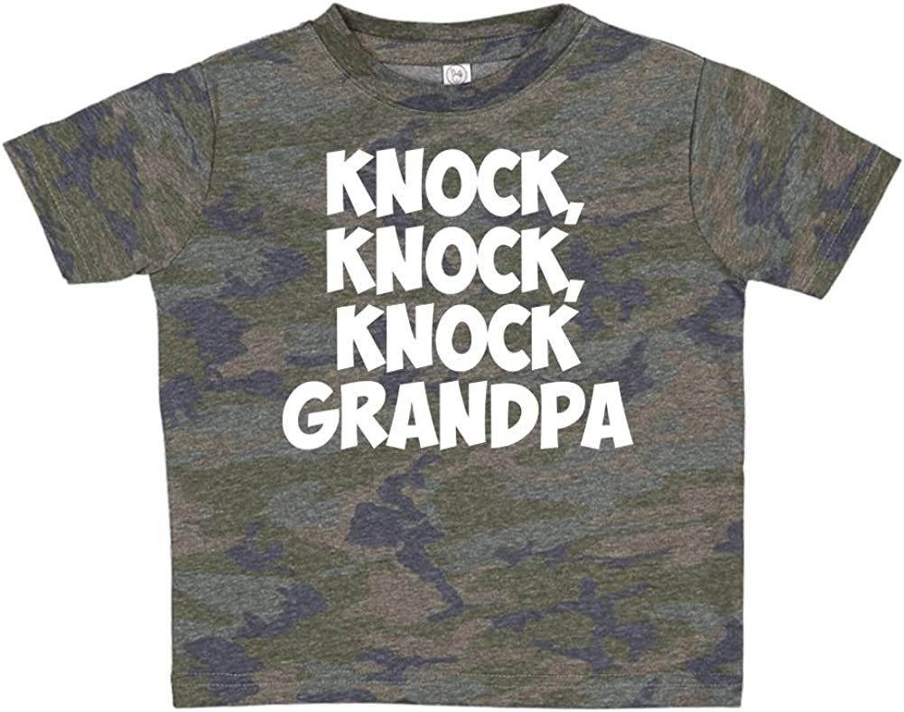 Knock Knock Toddler//Kids Short Sleeve T-Shirt Knock Grandpa