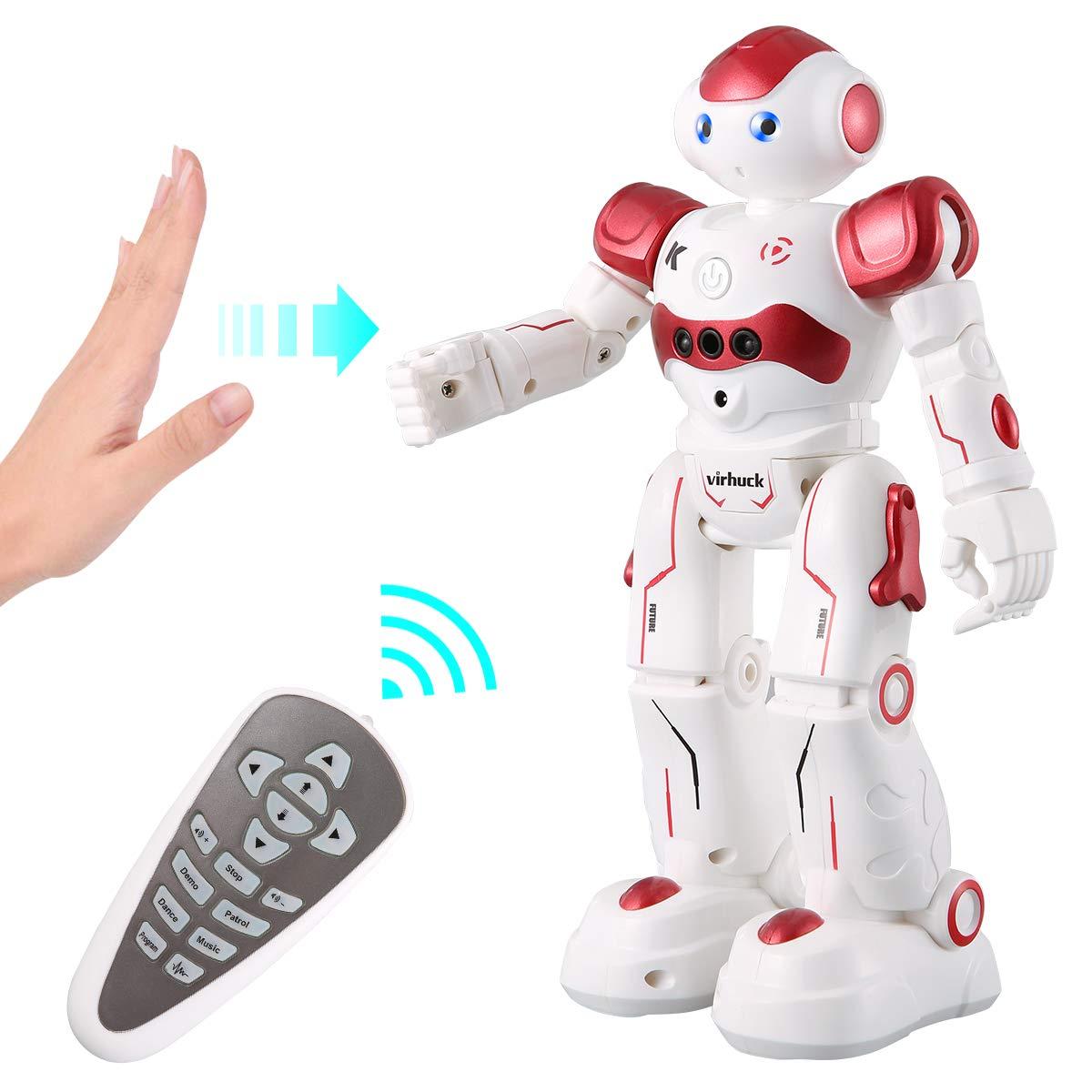Virhuck R2 Robots de Radiocontrol, Robots de Programación Inteligente Sensación de Gestos, Bailando Cantando Caminando Robotica para Niñ...