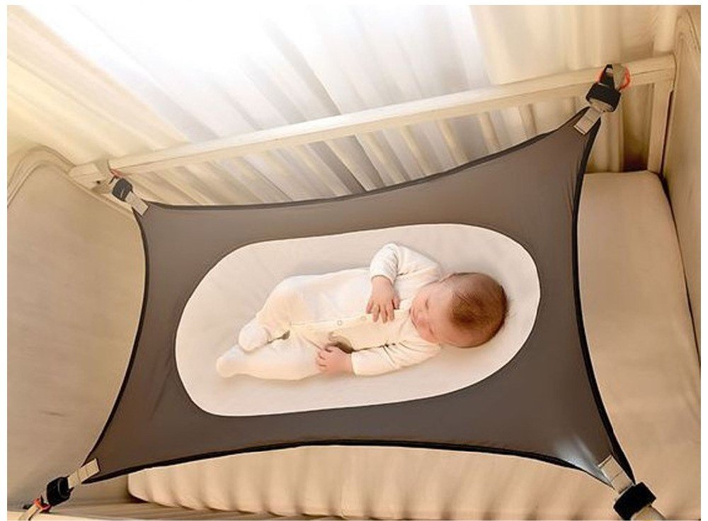 Baby Hammock For Crib Wombs Bassinet Hammocks Bed Absolutely Safety Nursery Bed Travel Baby Hammocks (Grey)