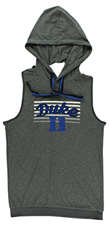3c205866710e8 Colosseum Womens Duke University Cross Back Hooded Tank Top Heather Grey XL