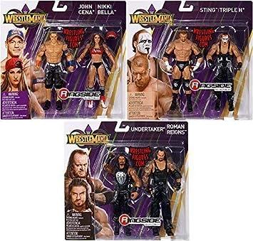 3624697870110 Serie Completa Lote de All 3 Lucha Libre WWE Mattel Battle Pack Colección Serie Wrestlemania 34 Figura de Acción: Amazon.es: Juguetes y juegos