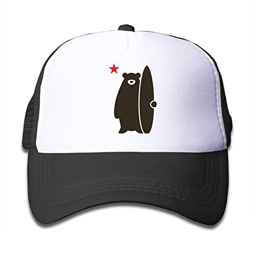 Claude Bart California Surf Bear Adjustable Nylon Hats Summer Golf ... 1193298518d