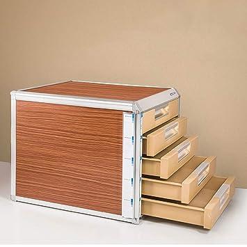 Gabinete para archivos, tipo cajón de cinco capas con almacenamiento de oficina con cerradura Datos