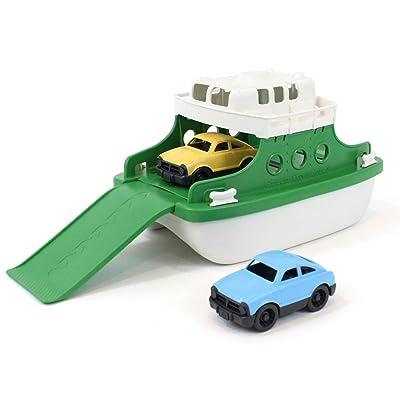 "Green Toys Ferry Boat Bathtub Toy, Green/White, 10""X 6.6""x 6.3"": Toys & Games"
