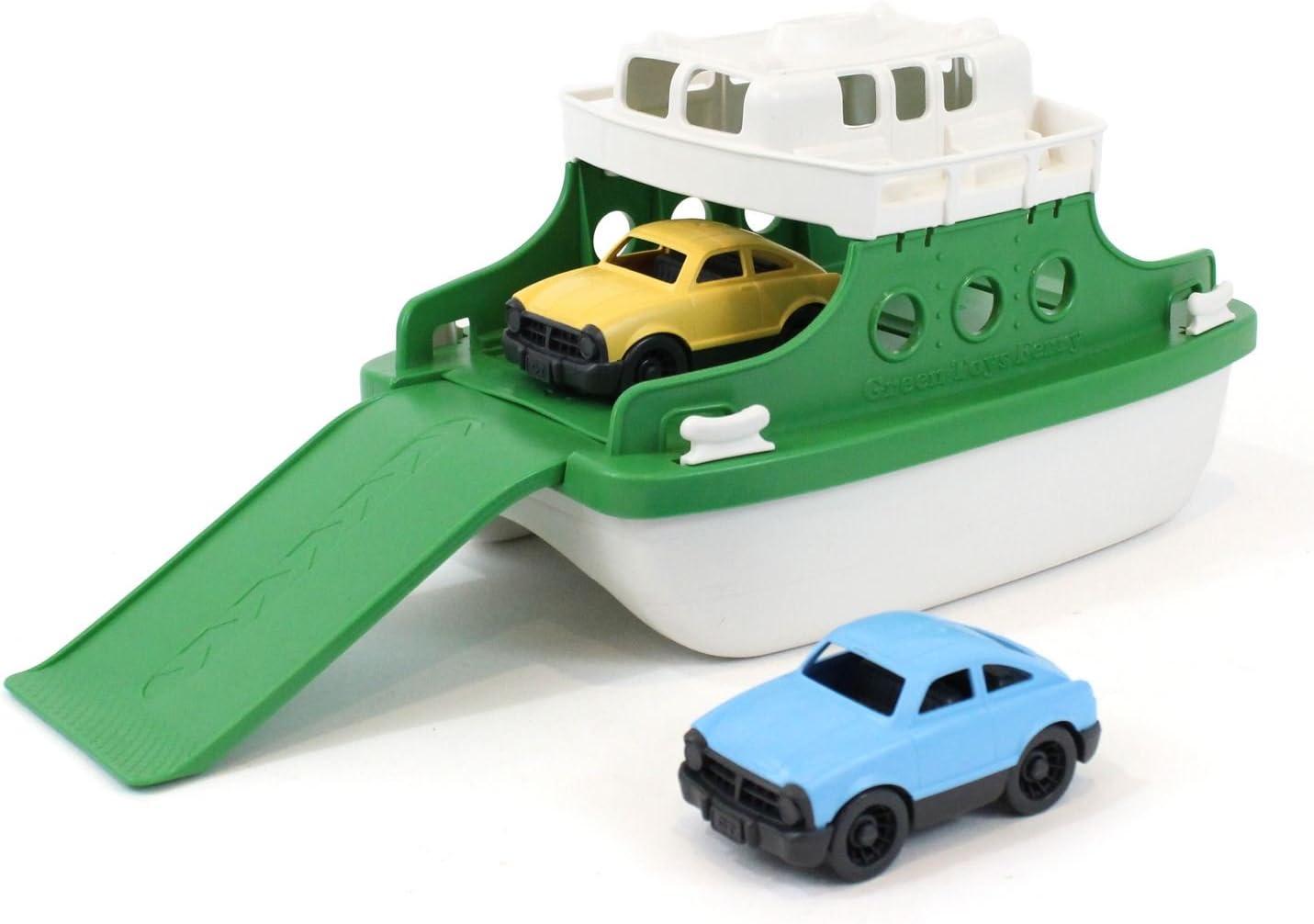 "Green Toys Ferry Boat Bathtub Toy, Green/White, 10""X 6.6""x 6.3"""
