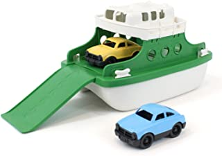 "product image for Green Toys Ferry Boat Bathtub Toy, Green/White, 10""X 6.6""x 6.3"""