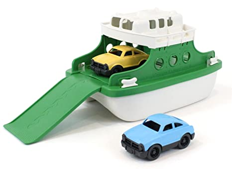 Green Toys Ferry Boat Bathtub Toy, Green/White, 10u0026quot;X 6.6u0026quot;