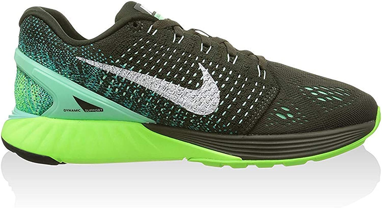 Nike Womens Wmns Lunarglide 7, SEQUOIA/WHITE-GREEN GLOW, 5 M US ...